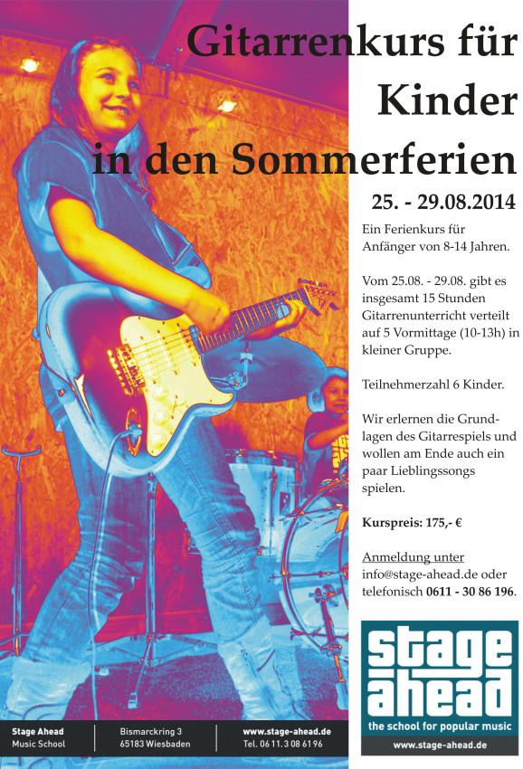 Gitarrenkurs für Kinder (Sommerferien 2014)