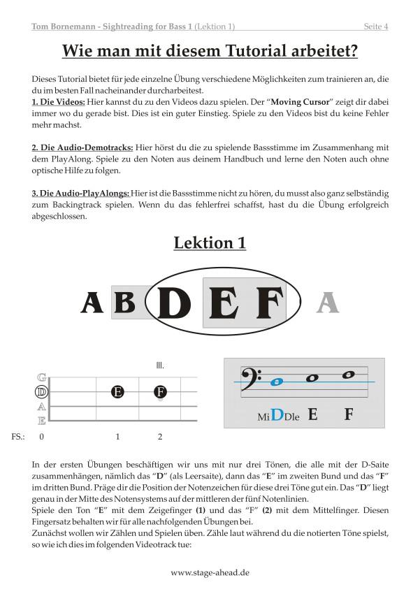 Tom Bornemann - Sightreading für E-Bass (Teil 1)_Seite 4
