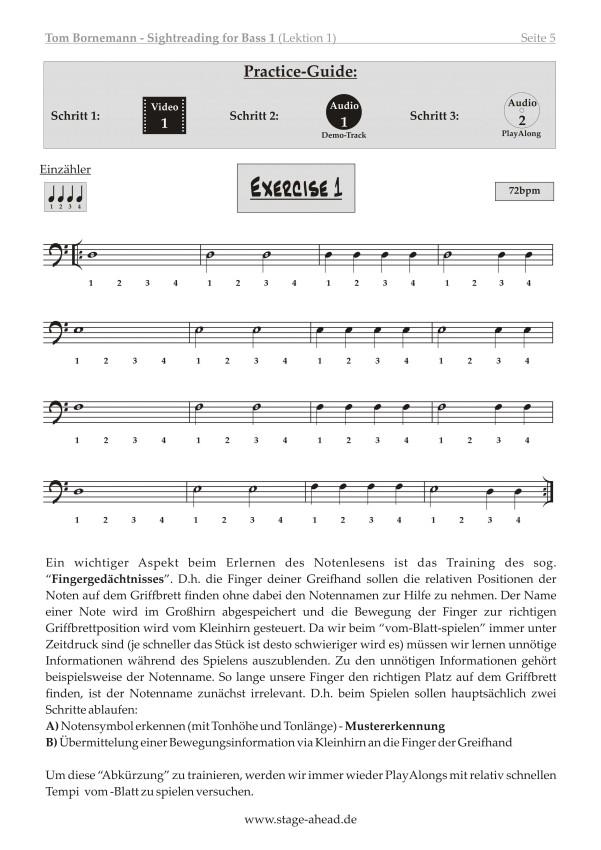 Tom Bornemann - Sightreading für E-Bass (Teil 1)_Seite 5