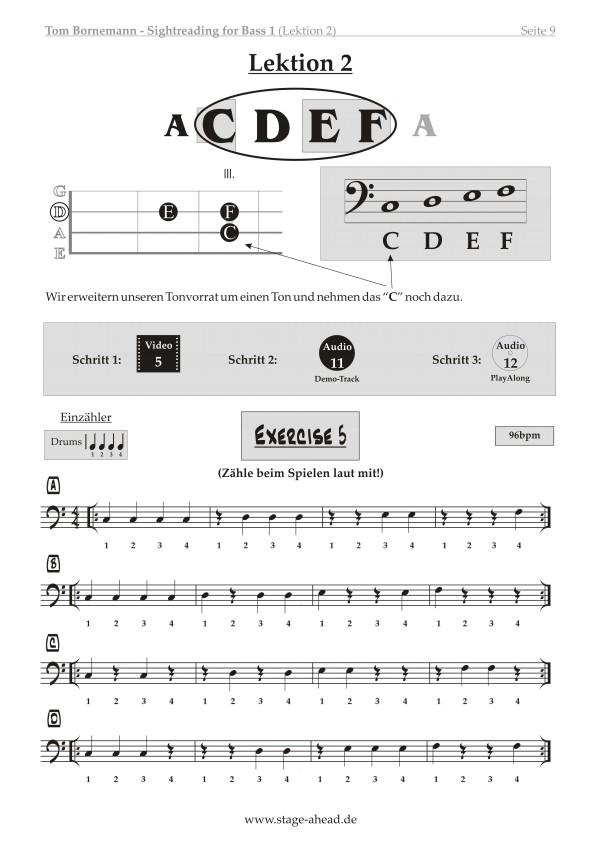 Tom Bornemann - Sightreading für E-Bass (Teil 1)_Seite 9