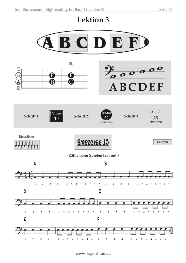 Tom Bornemann - Sightreading für E-Bass (Teil 2)_Seite 14