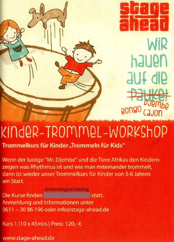 Anzeige Kinder-Trommelkurs (FLUMMI; H800) NEW